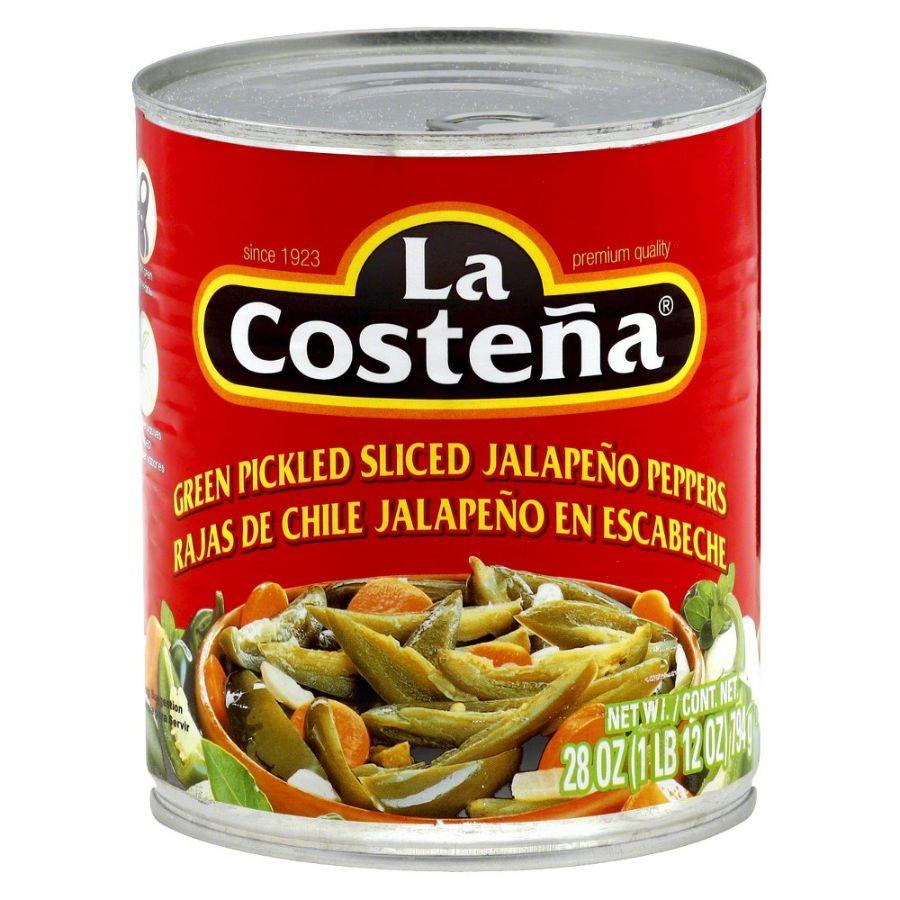 La Costena Green Pickled Sliced Jalapeno Peppers, 26 oz