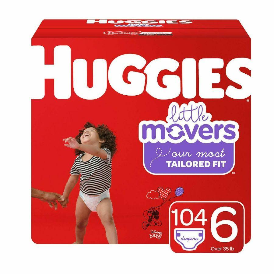 Huggies Little Movers Diapers Size 6, 104 ct