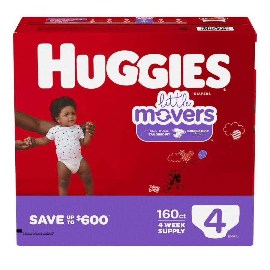 Huggies Little Movers Baby Diapers Size 4, 160 ct