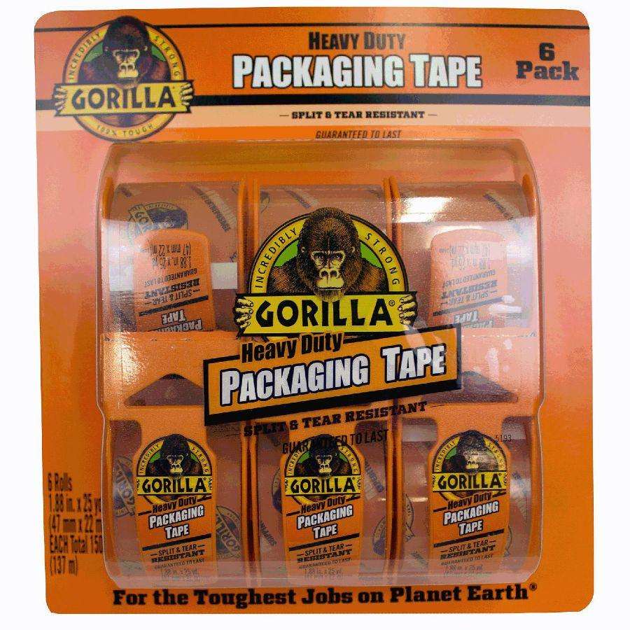 Gorilla Heavy Duty Packaging Tape, 6 Pk