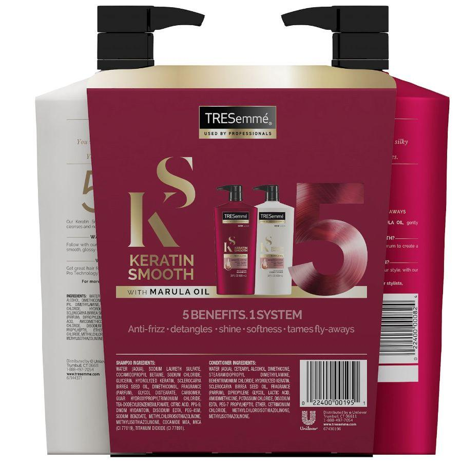 Tresemme Keratin Smooth Shampoo & Conditioner, 2x 828 ml