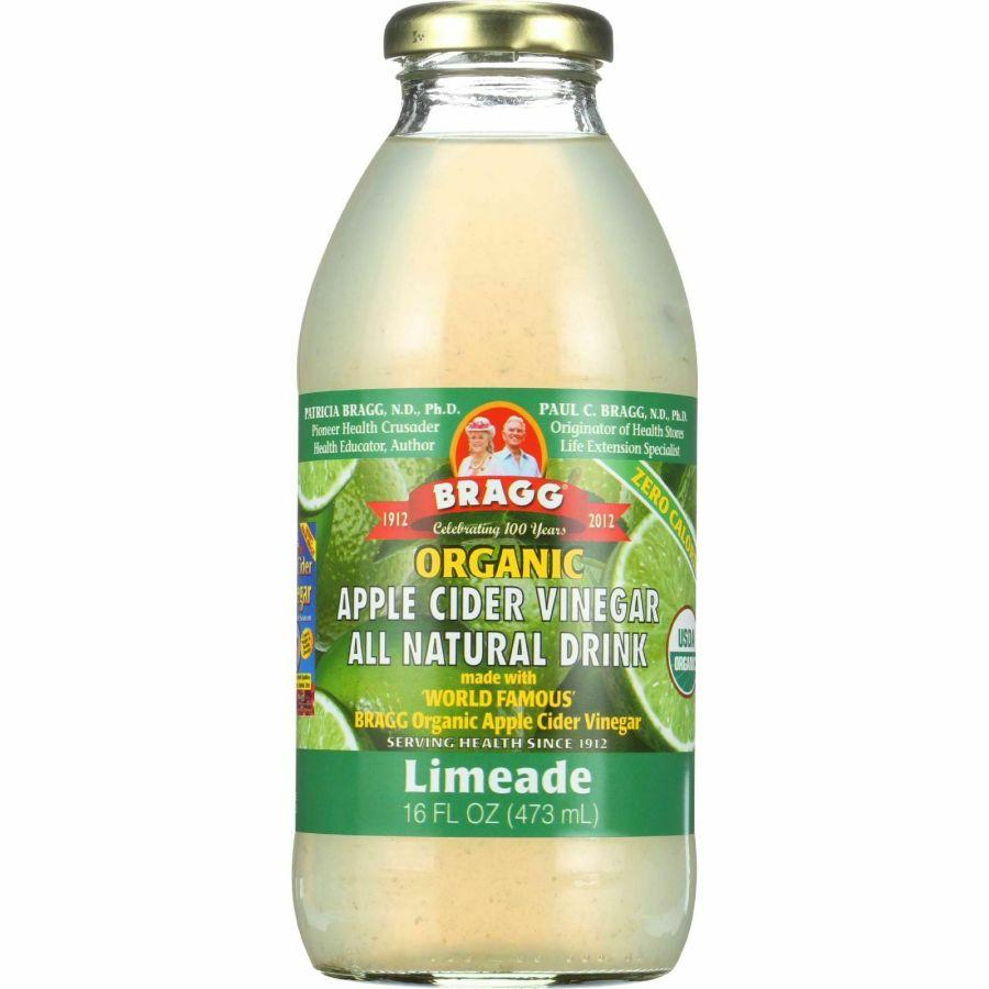Bragg Organic Apple Cider Vinegar Drink Limeade, 16 oz