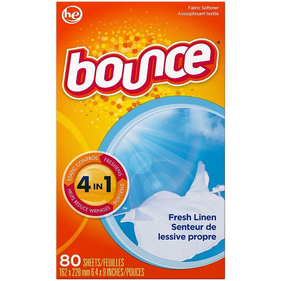 Bounce Dryer Sheets Singles Linen Fabric Softener, 80 ct