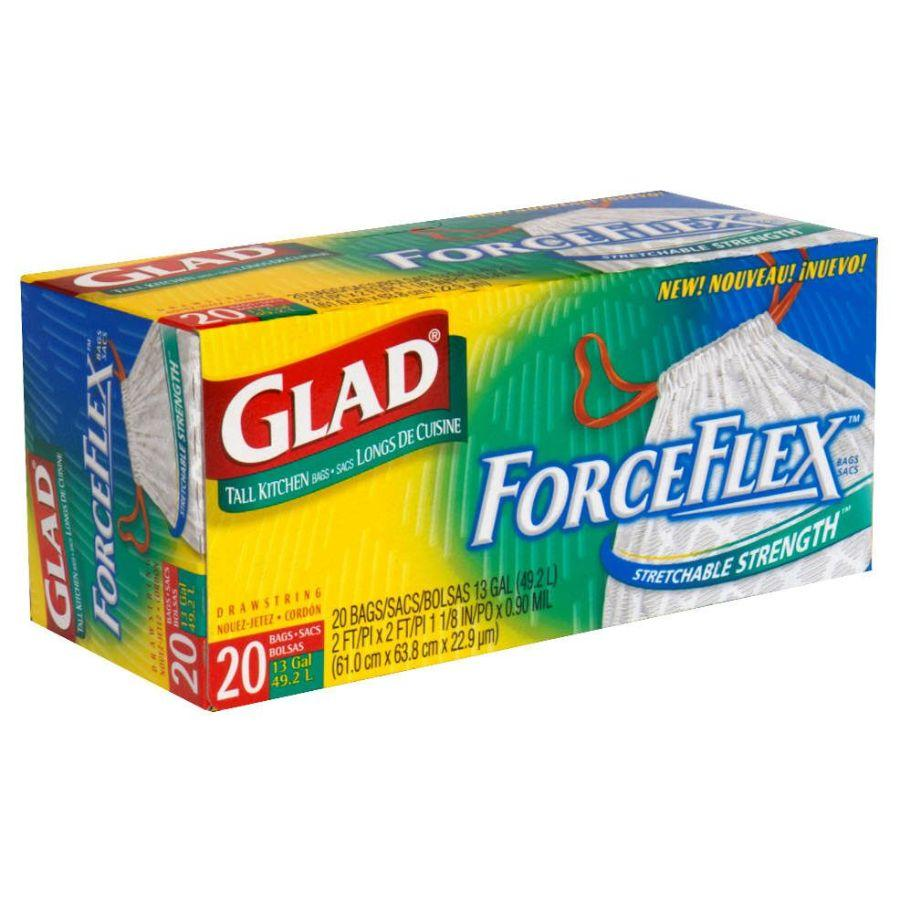 Glad Tall Kitchen Bags ForceFlex 13 Gal, 20 ct