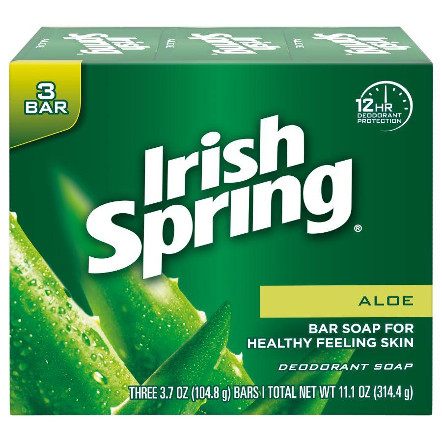 Irish Spring Aloe Vera Soap Bars, 3 ct