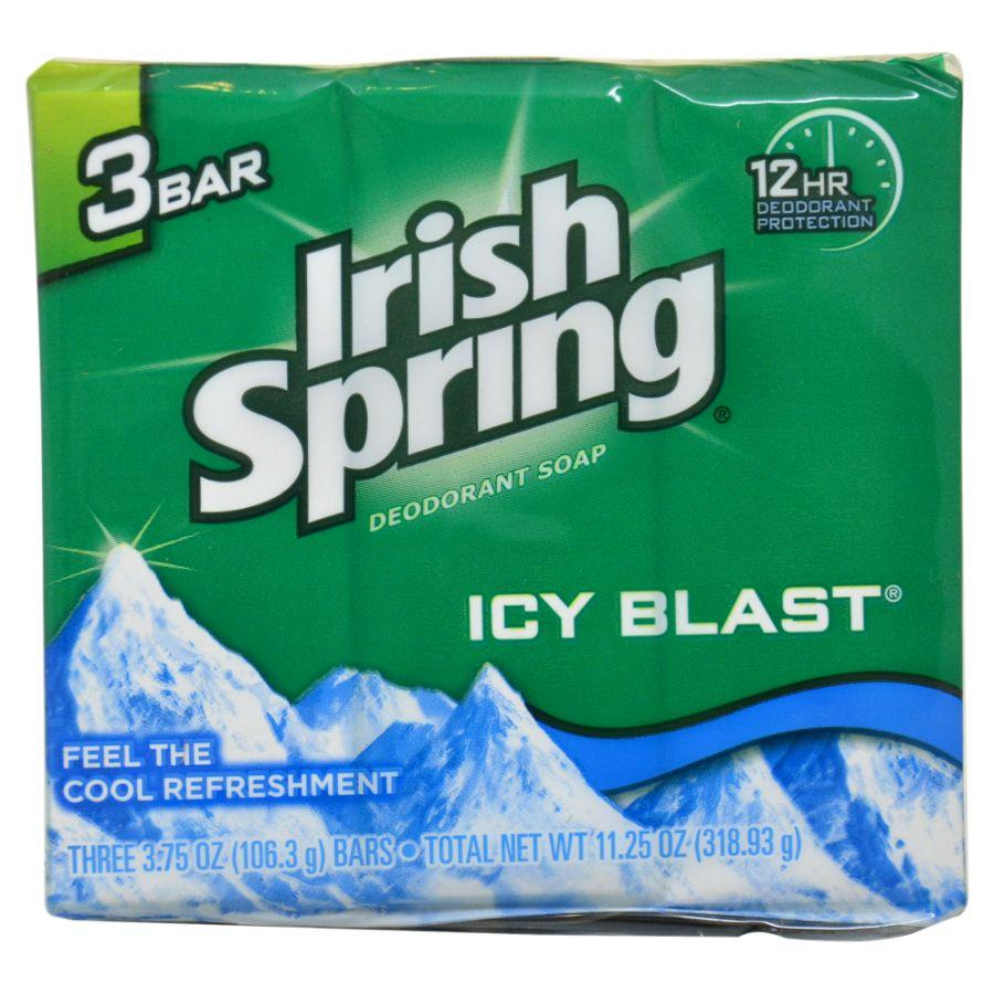 Irish Spring Icy Blast Soap Bars, 3 ct
