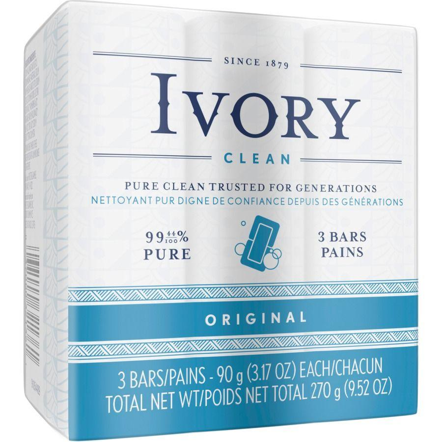 Ivory Original Soap Bar, 3 ct