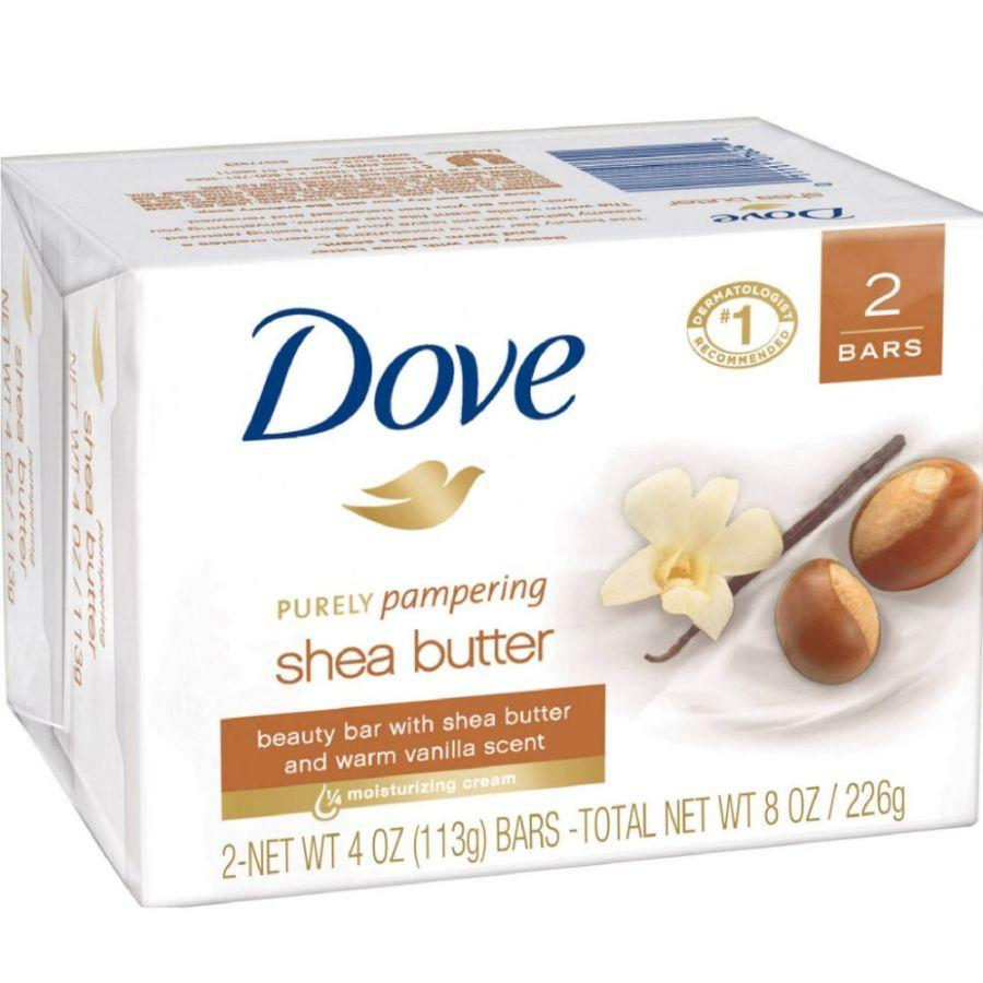 Dove Beauty Soap Bar Shea Butter, 2 ct