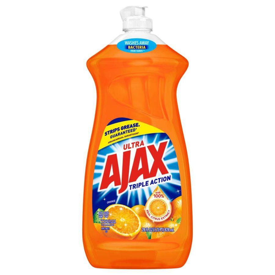 Ajax Dishwashing Liquid Triple Action Orange, 28 oz