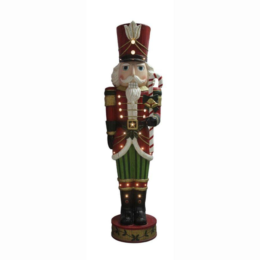 Nutcracker W Music & Led, 6 ft