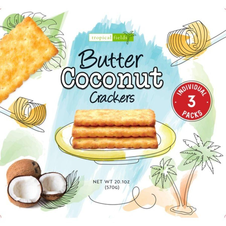 Tropical Field Butter Coconut Crackers, 20.1 oz