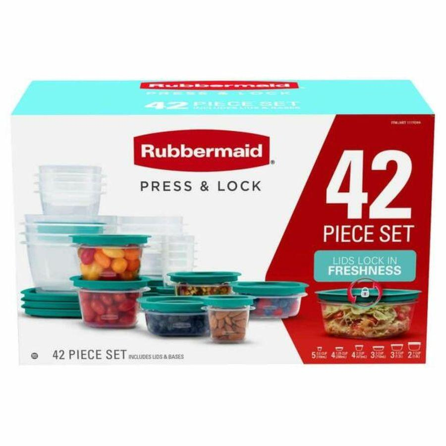 Rubbermaid Food Storage Press & Lock, 42 ct
