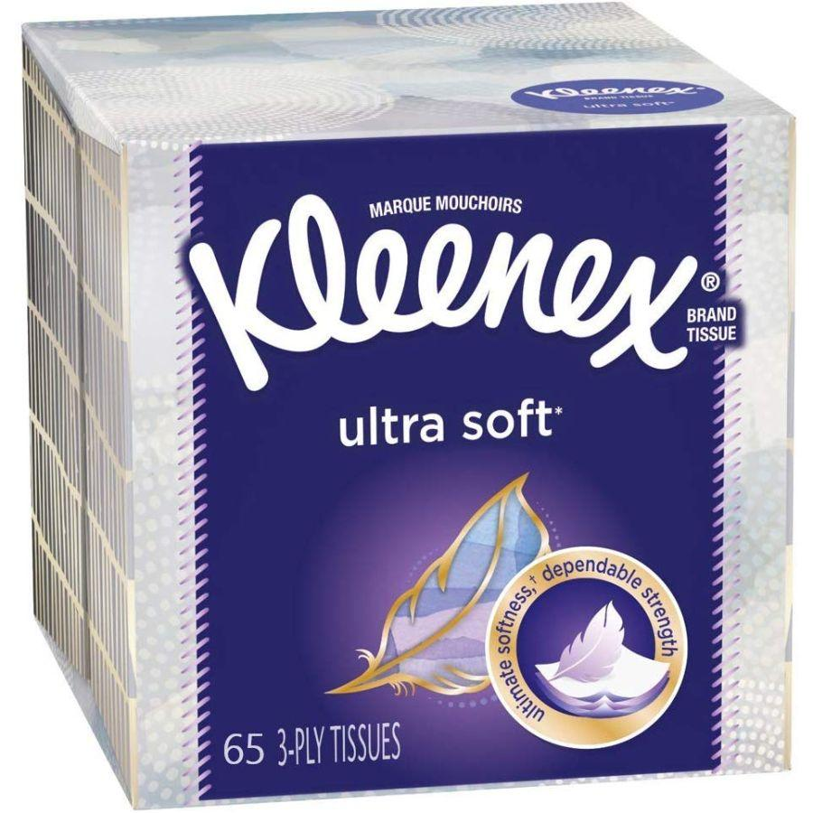 Kleenex Ultra Soft 3-Ply 65 Tissues, 1 Pk