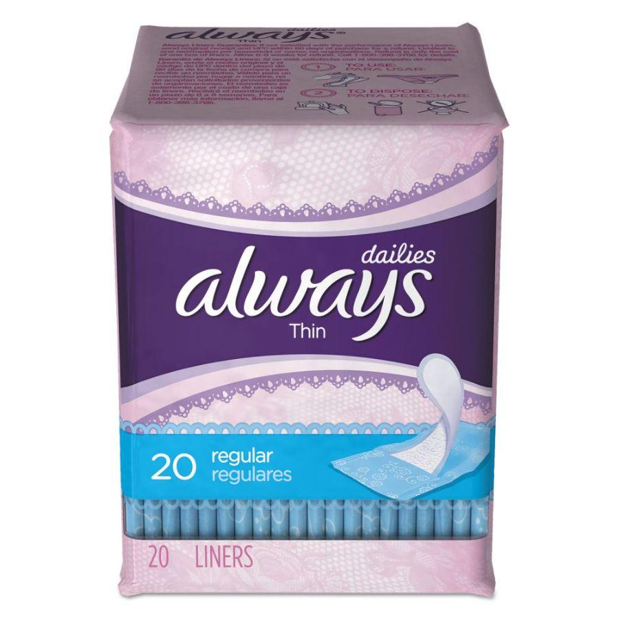 Always Fem Thin Panty Liners, 20 ct