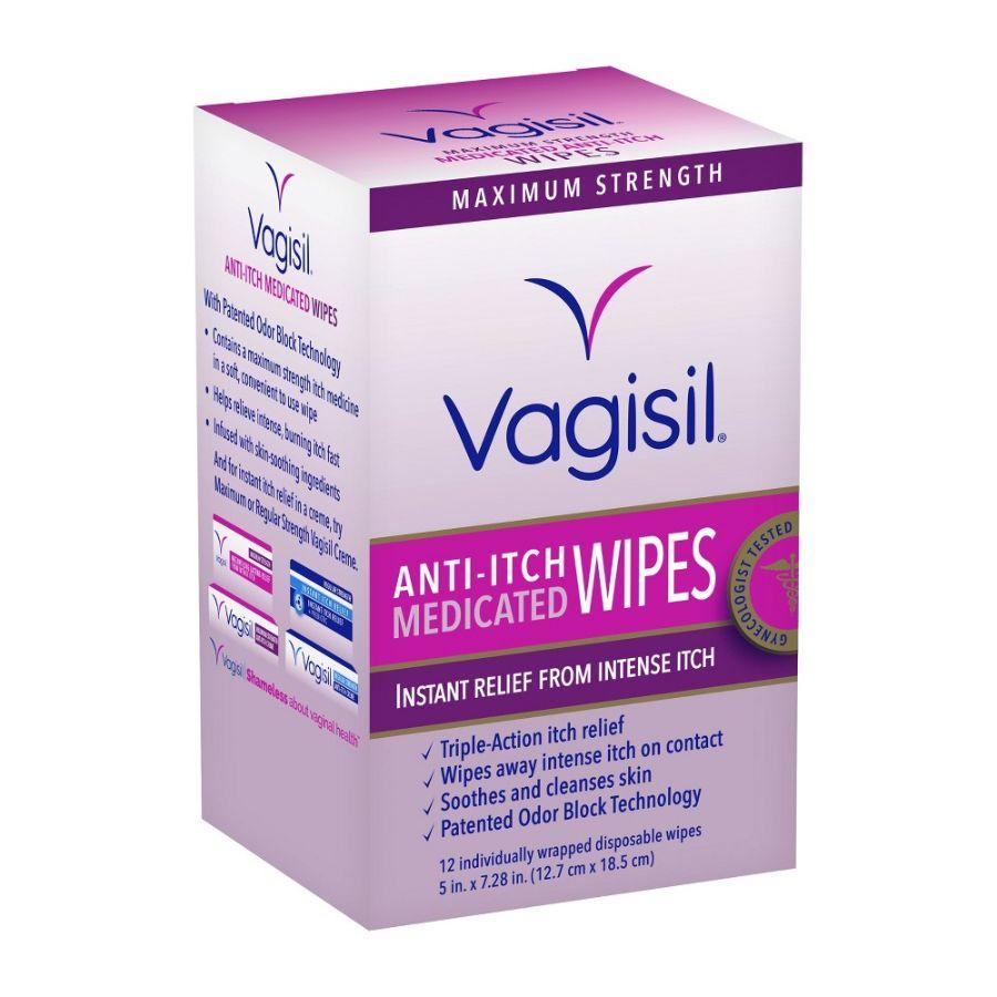 Vagisil Anti-Itch Medicated Wipes, 12 ct
