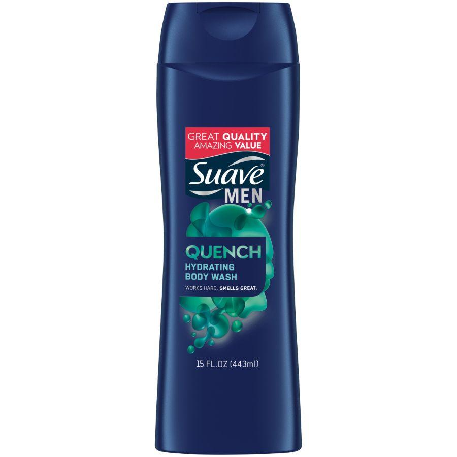 Suave Men Quench Hydrating Body Wash, 12 oz