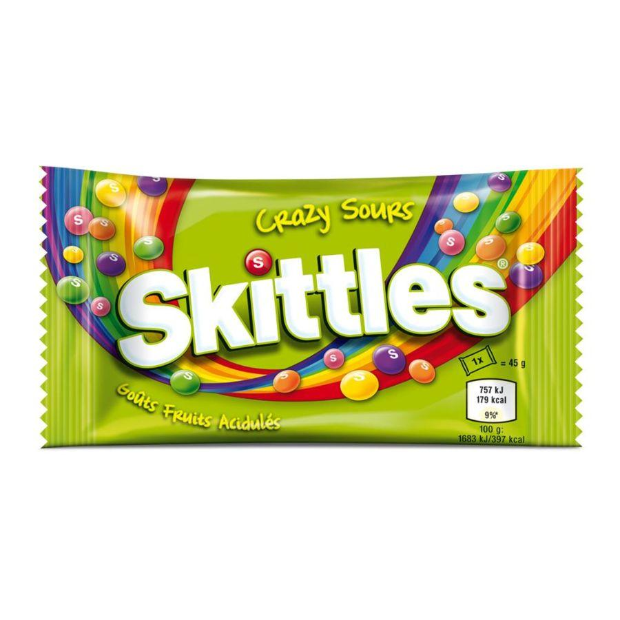 Skittles Crazy Sours Bag, 45 g