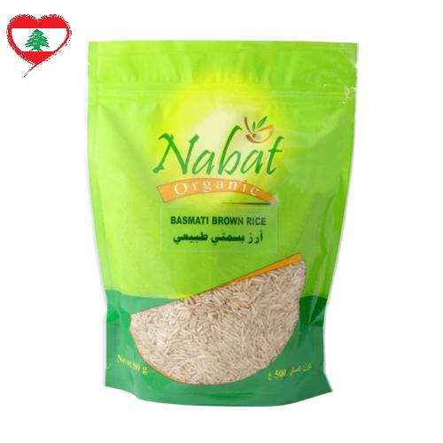 Nabat Organic Basmati Brown Rice GF Vegan, 1kg
