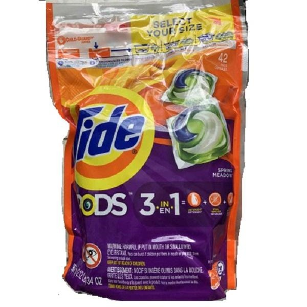 Tide Pods Laundry Detergent Pacs Spring Medows, 1Pk/ 42 ct