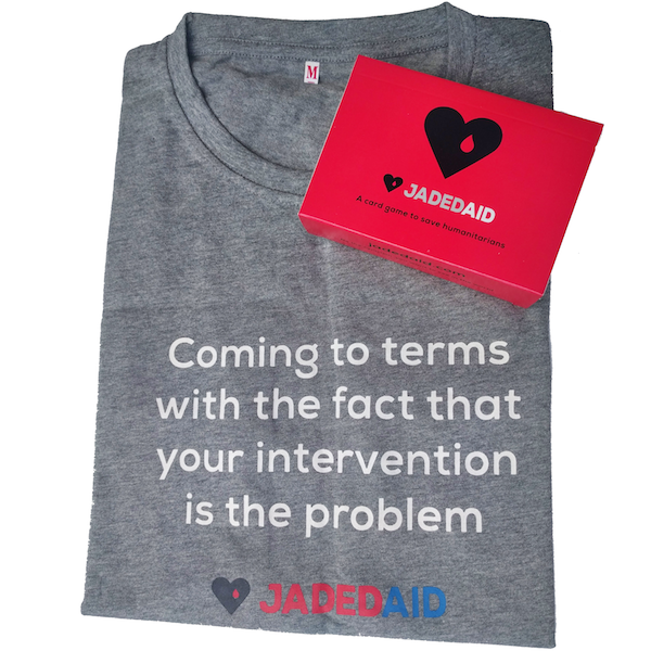 JadedAid Combo Pack: Cards + Grey Shirt