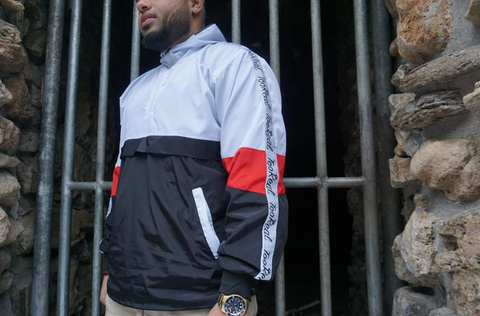 Red White & Black Windbreaker