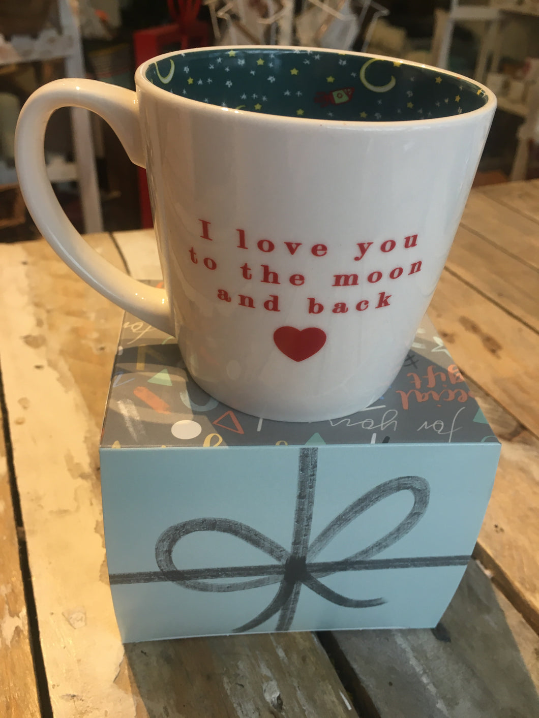 Inside Out Love you to the moon mug