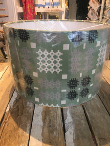 Welsh Tapestry Lampshade Large Green