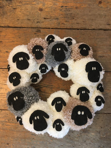 Handmade Sheep Wreath