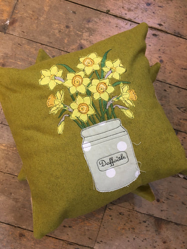 Handmade Daffodil Cushion
