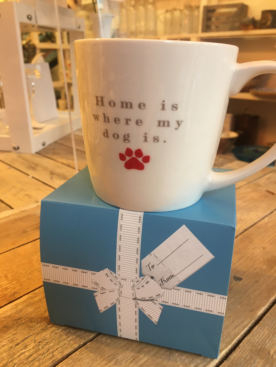 Inside Out Mug Home is Where the Dog Is