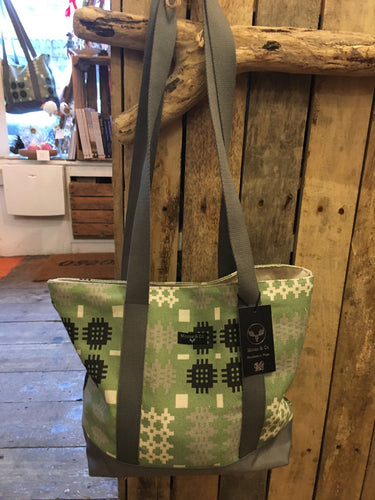 Welsh Tapestry Canvas Tote Green
