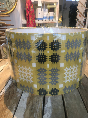 Welsh Tapestry Lampshade Large Mustard