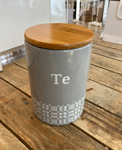 "Welsh ""Te"" Canister"