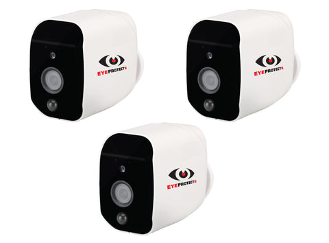 3 x Eye Protect II CCTV Wi-Fi Camera's - Battery or A/C powered
