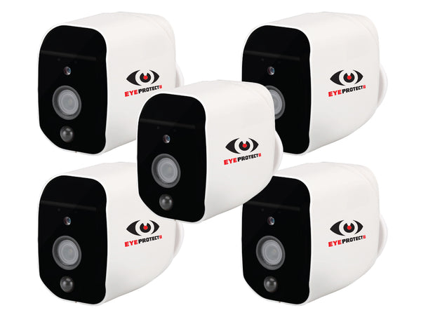 5 x Eye Protect II CCTV Wi-Fi Camera's - Battery or A/C powered