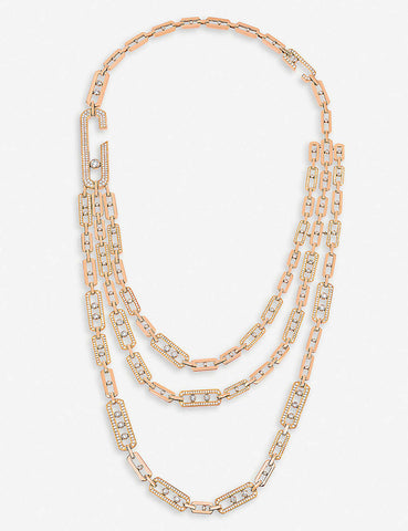 Expensive Pink Gold Necklace | BrilliantGifts.com
