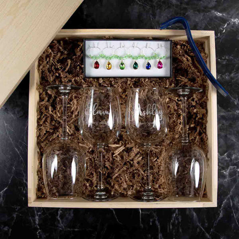 Personalized Wine Gift Box | BrilliantGifts.com