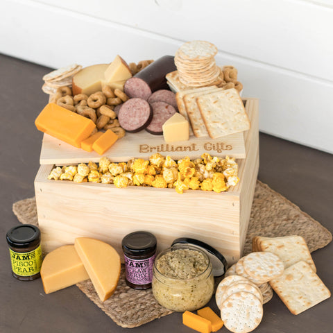 Cheese and Cracker Gift Crates | BrilliantGifts.com