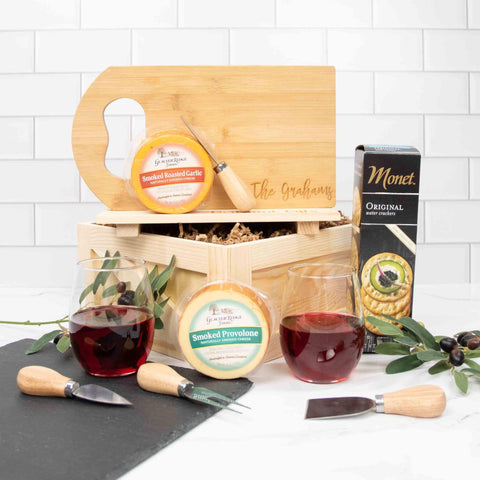 Wine and Cheese Gift Box | BrilliantGifts.com