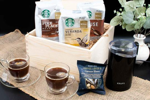 Coffee Lover Gift Basket | BrilliantGifts.com