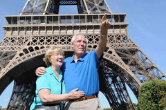 Couple at Eiffel Tower