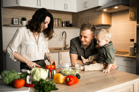 A Family Spending Time Together Cooking