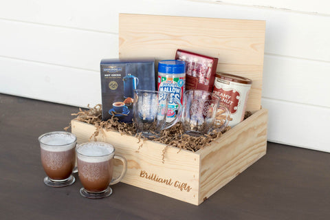 Winter Themed Gift Basket for Her | BrilliantGifts.com