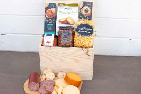 Meat & Cheese Gift Basket | BrilliantGifts.com