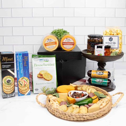 Cheese and Crackers Gift Crate