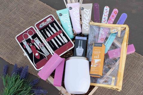 Nail Care Gift Basket for Women | BrilliantGifts.com