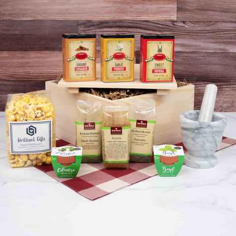 Herbs and Spices Gift Box | BrilliantGifts.com