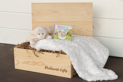 Lamb Baby Shower Gift | BrilliantGifts.com