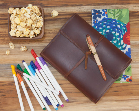Leather Journal Gift for Her | BrilliantGifts.com