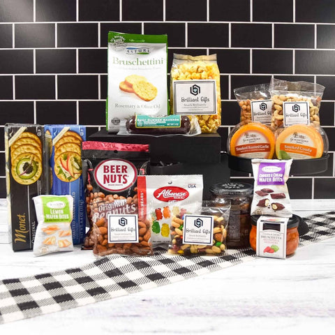 Snack Filled Gift Crate | BrilliantGifts.com